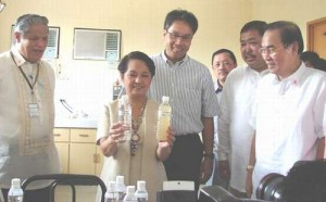 PGMA during the inauguration of the 30,000 m³ per day Water Treatment Plant  at Brgy. Bahit, Panitan, Capiz  on August 03, 2007.