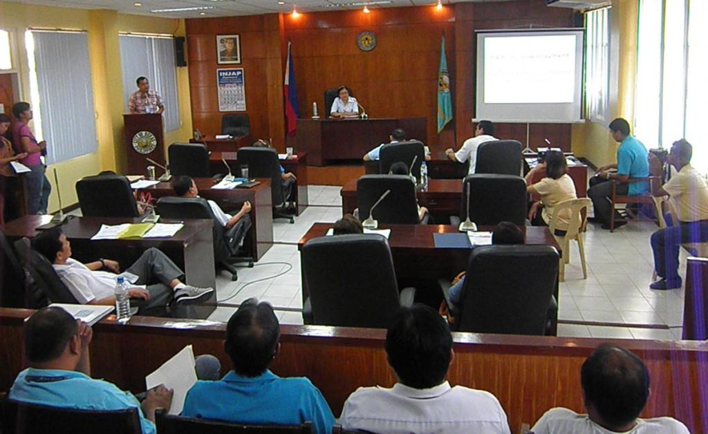GM Delgado during the Roxas City Council Meeting