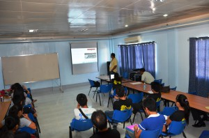 Pollution Control Officer, Engr. Randy Rala gives lecture on water treatment process