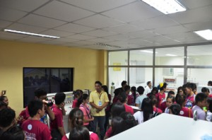 Filamer Christian University Tourism Students visited the MRWD Water Treatment Plant